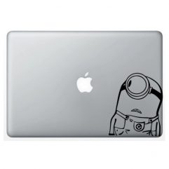 Sticker noir Minion pour Macbook 13, 15 et 17″