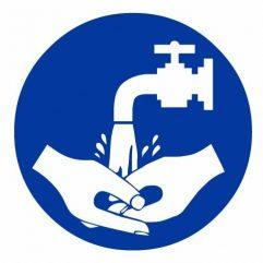 Adhésif obligation de se laver les mains