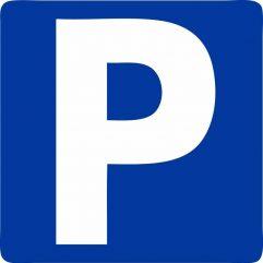 Adhésif panneau parking carré