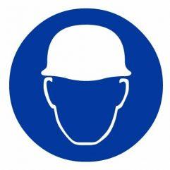 Adhésif port d'un casque de protection obligatoire
