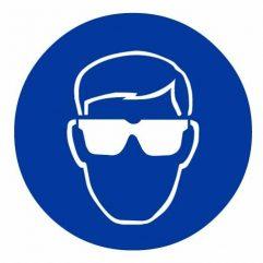 Adhésif port de lunettes de protection obligatoire