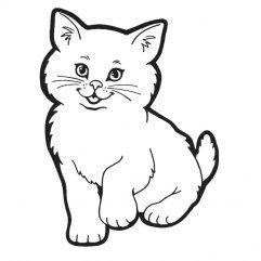 Chat adhésif noir 28 x 38 cm