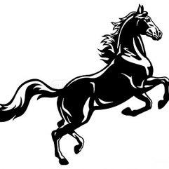 Cheval adhésif 29 x 26cm marron ou noir