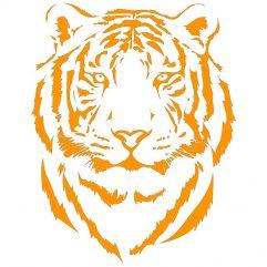 Tigre adhésif orange 29 x 36 cm