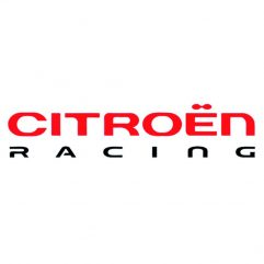 Sticker Citroën Racing 12,5 cm rouge et noir