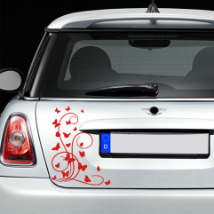 Sticker papillons déco pour voiture 30×40 cm couleur au choix