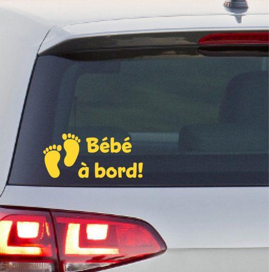 Sticker « Bébé à bord! » avec pieds