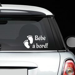 Sticker « Bébé à bord! » avec pieds de bébé