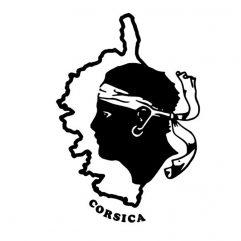 Sticker Corse tête de Maure 14 x 20cm
