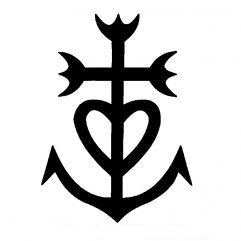 Sticker Croix de Camargue 7 x 10cm