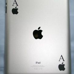 2 stickers noir As de pomme pour Ipad