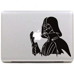 Sticker noir soldat pour Macbook 13, 15 et 17″