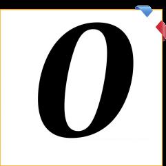 Numéro 0 en vinyle adhésif noir 10 cm