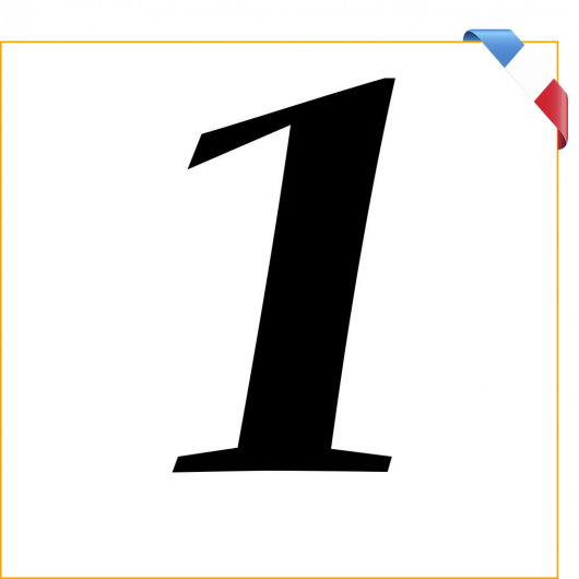 Numéro 1 en vinyle adhésif noir 10 cm