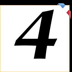 Numéro 4 en vinyle adhésif noir 10 cm