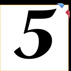 Numéro 5 en vinyle adhésif noir 10 cm