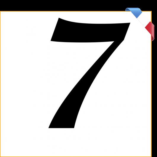 Numéro 7 en vinyle adhésif noir 10 cm
