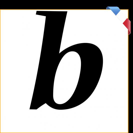 Lettre b en vinyle adhésif noir 10 cm