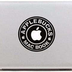 Sticker applebucks pour Macbook 13, 15 et 17″