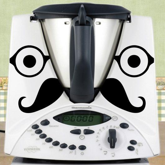 Stickers lunettes et moustache pour votre Thermomix TM31