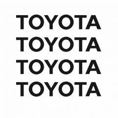 Lot de 4 stickers Toyota