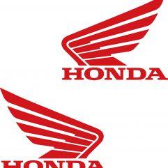 Lot de 2 stickers Honda pour réservoir