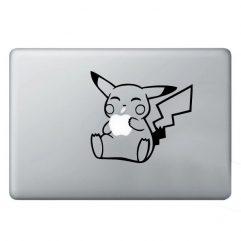 Sticker noir Pikachu pour Macbook 13, 15 et 17″