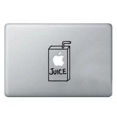 Sticker noir jus de fruits pour Macbook 13, 15 et 17″