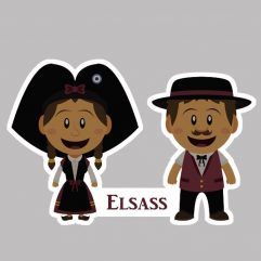 Sticker couple d'alsaciens Elsass