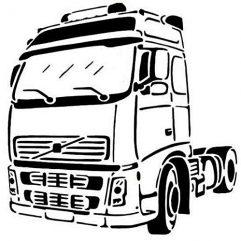 Sticker Camion en vinyle adhésif