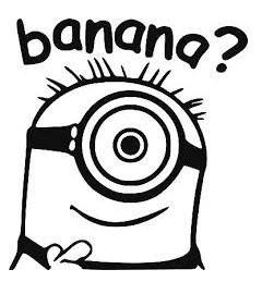 "Autocollant Minion ""Banana"""