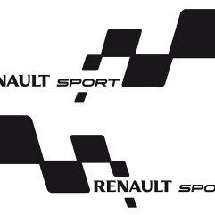Autocollant Renault Sport damier Lot de 2