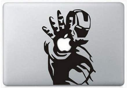 Autocollant Iron Man pour macbook