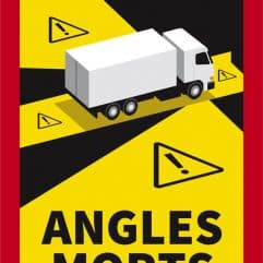 autocollant angles morts camion