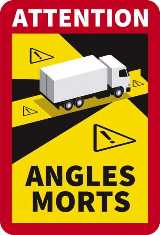 autocollant angles morts camion